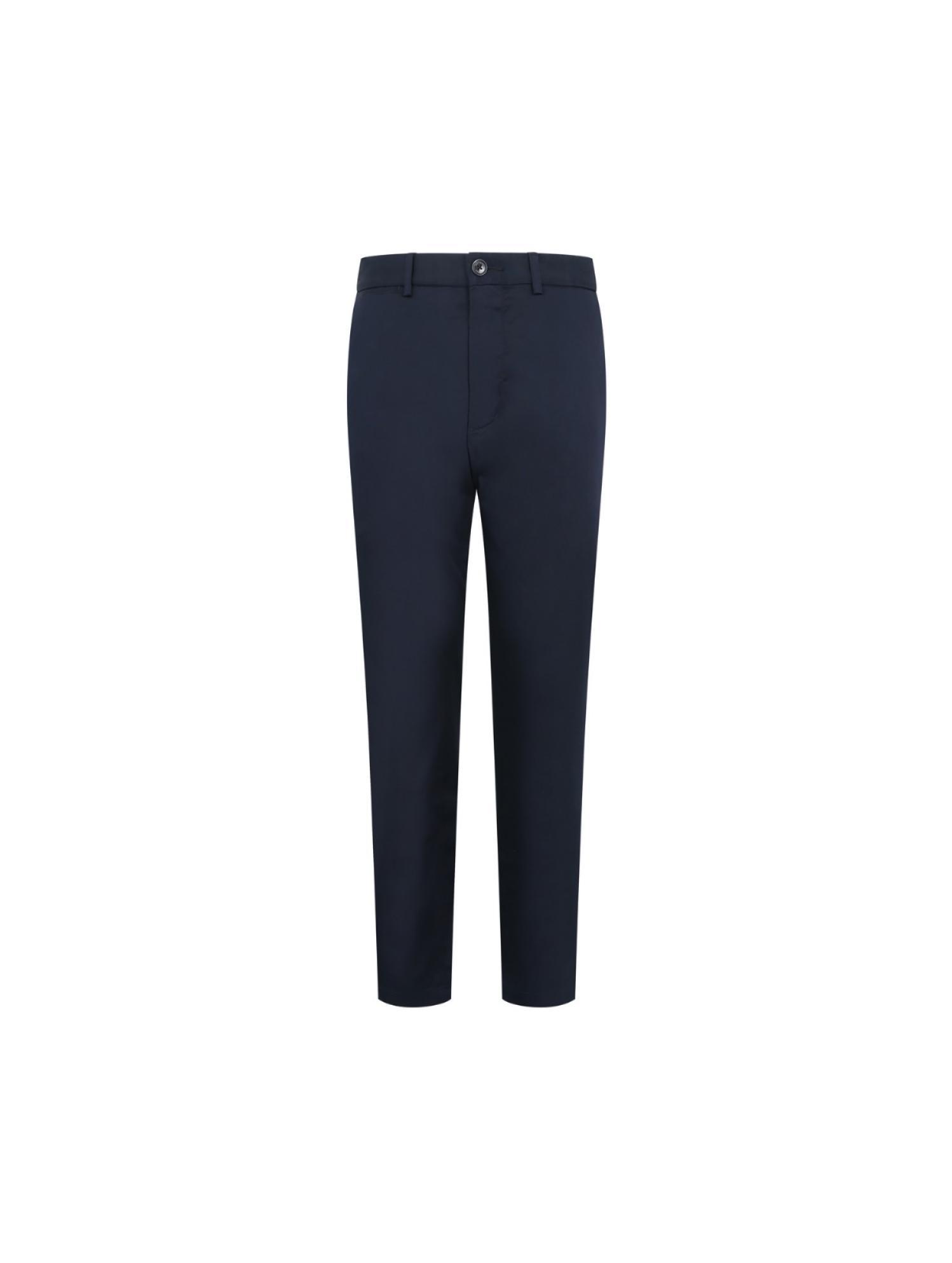 纯色微弹长裤