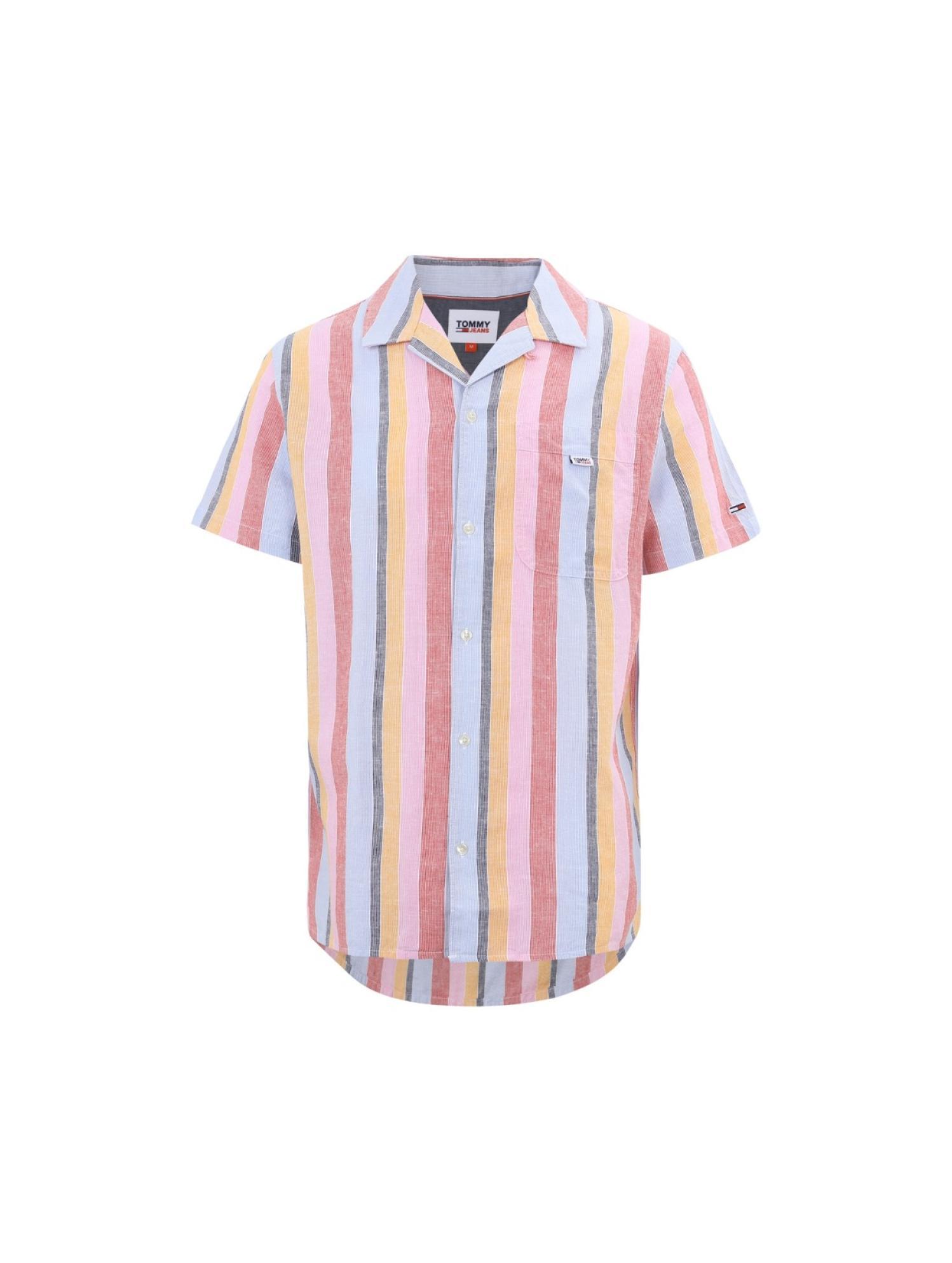 撞色条纹衬衫
