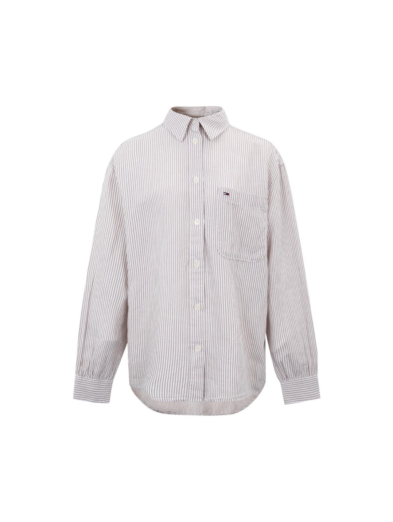 绣标长袖衬衫