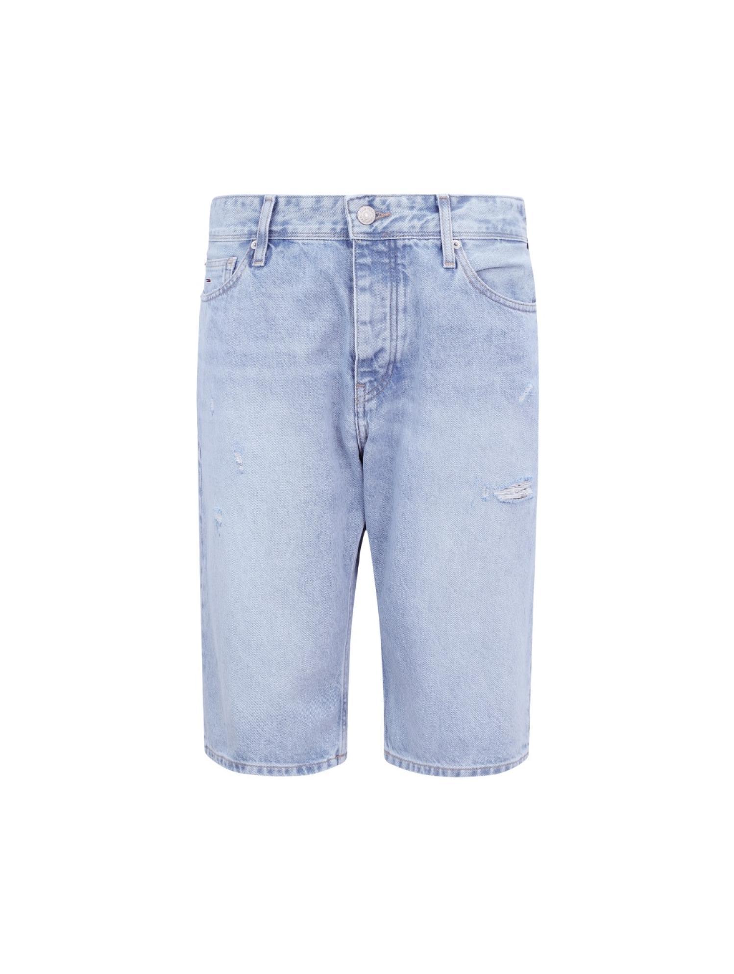 破洞牛仔短裤