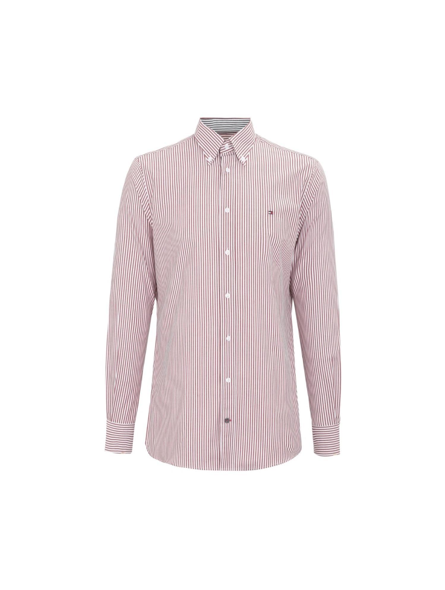条纹长袖衬衫